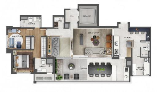 Planta 124 m² Tipo