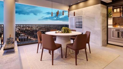 Terraço com churrasqueira do Essência de 100 m²
