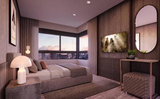 Suite do apartamento de 150 m²