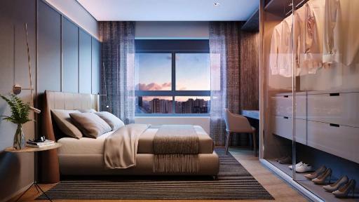 Suite do apartamento de 100 m²